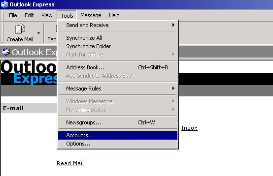 how to create a new email account in outlook express